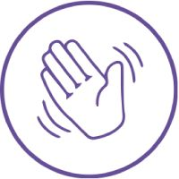 Good Luck | Hand Waving Image