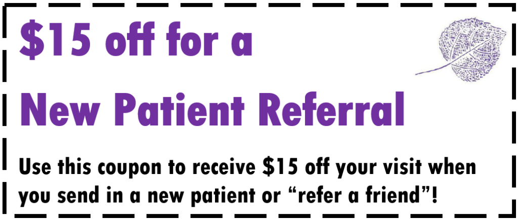 New Patient Referral Coupon Aspen Clinic