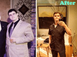 Weight Loss Before and After Picture Man