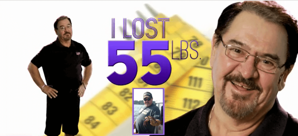55lb Weight Loss Before and After Man